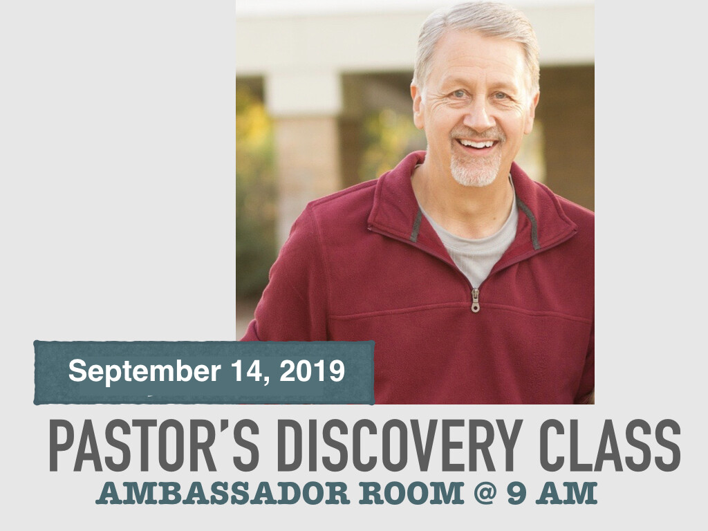 Pastor's Discovery Class