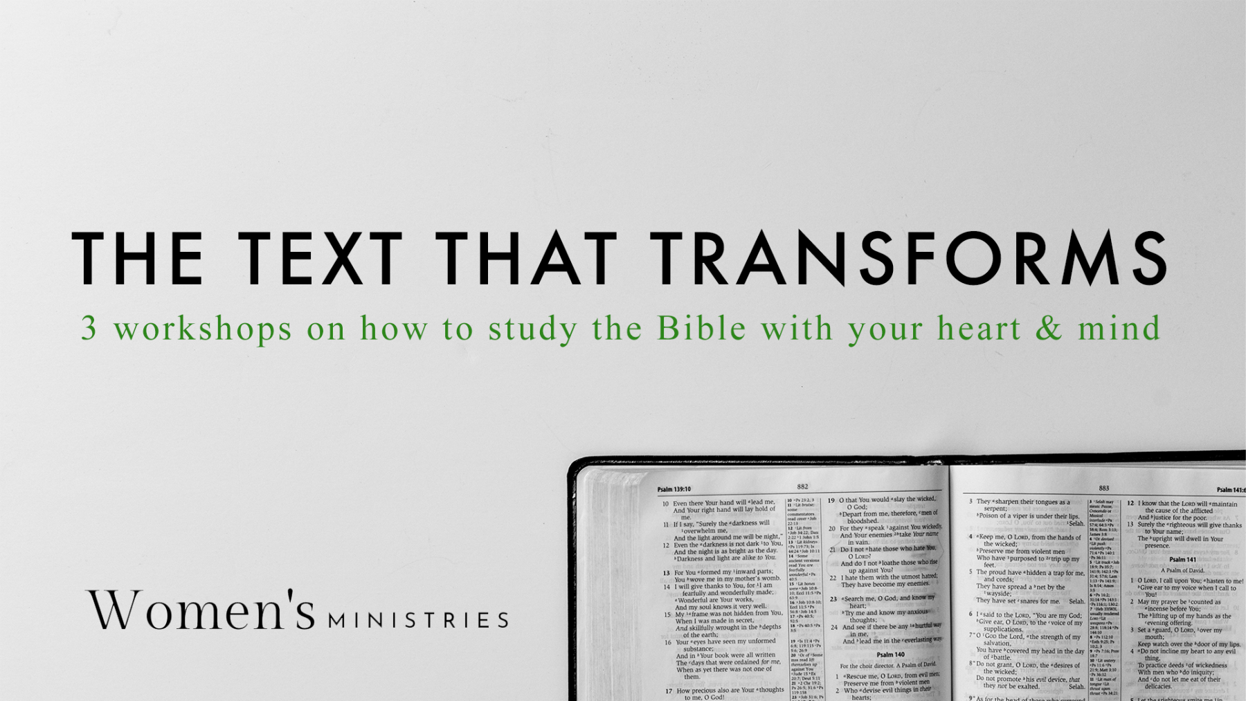 The Text That Transforms- Bible Literacy Workshops
