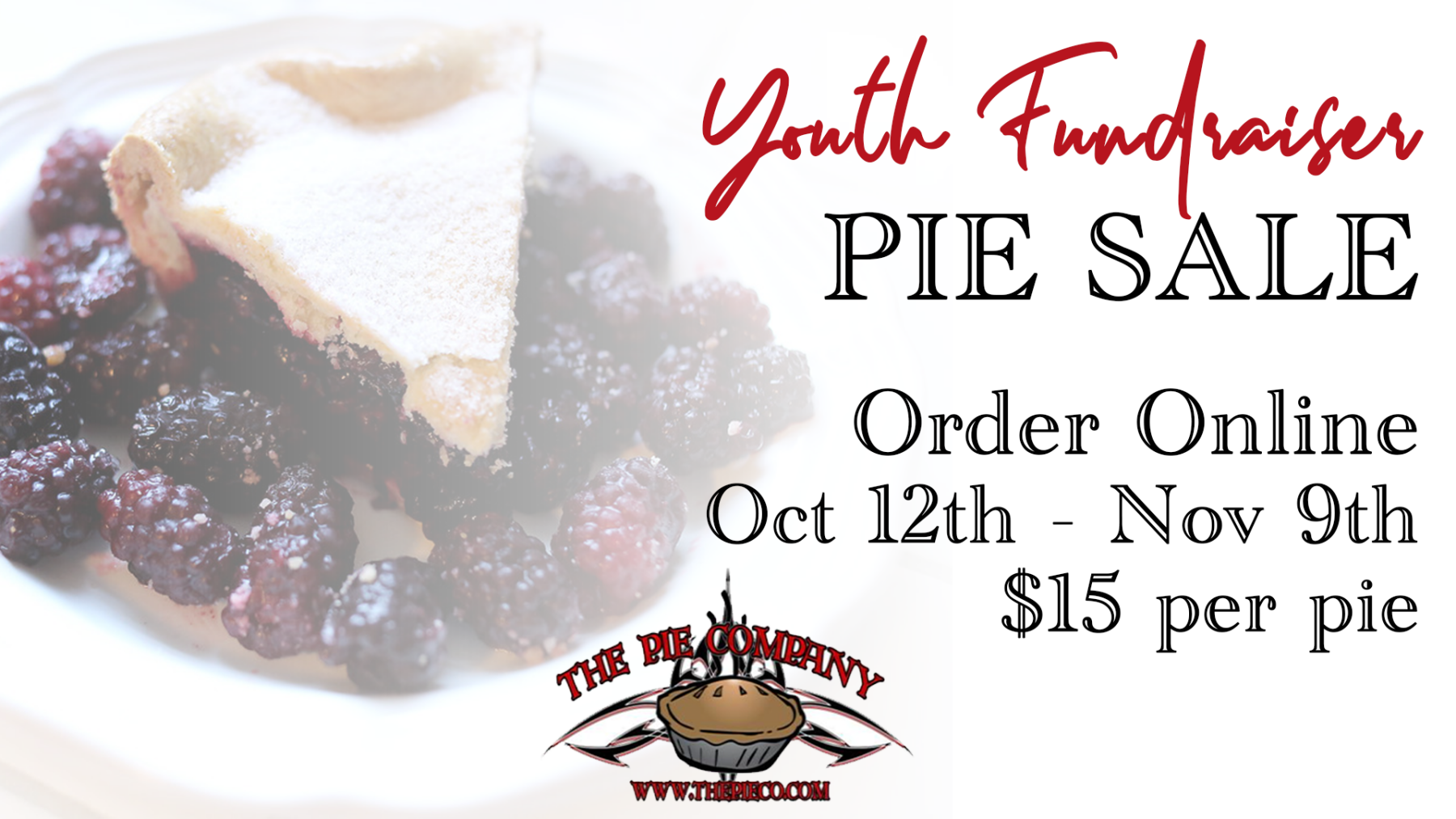 Youth Holiday Pie Sale